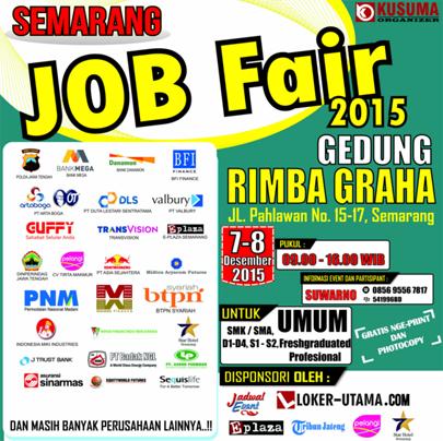Semarang Job Fair 2015 di Gedung Rimba Graha Tanggal 7 - 8