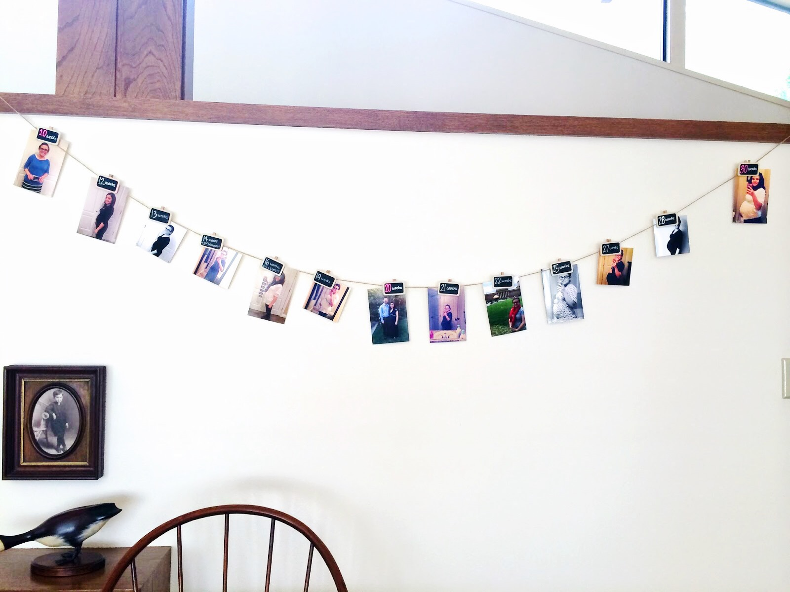 DIY Baby Bump Growth Timeline for Baby Shower
