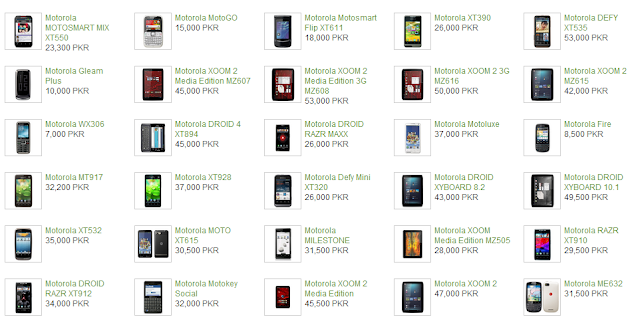 Motorola Mobiles Prices