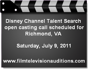 Disney Channel Talent Search Casting Call Richmond 2011
