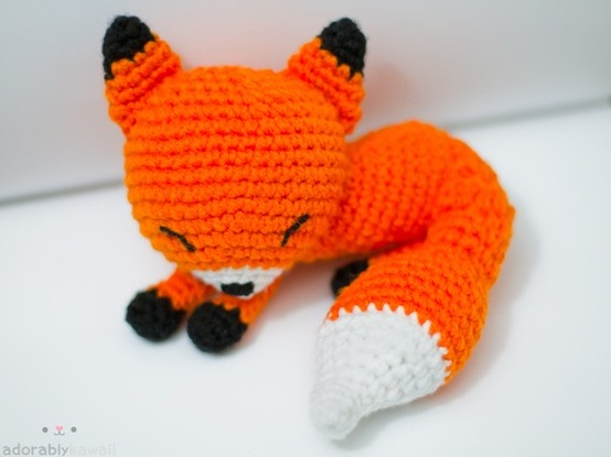 Crochet Fox : Have a made to order crochet Fox from etsy found here