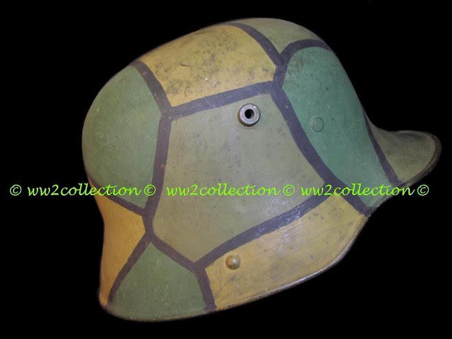 Block pattern WW1 Helmet Camouflage, Buntfarbenanstrich, Mimikri