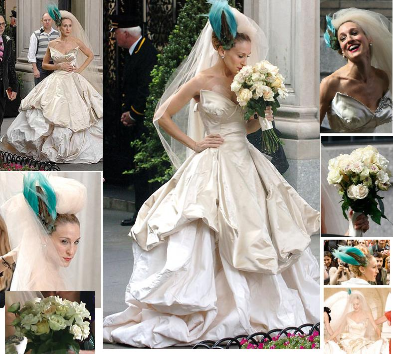 via condotti: vestidos de novia famosos.carrie bradshaw