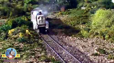 Island of Sodor train old railway track sleeper timbers heavy locomotive Spencer the silver engine
