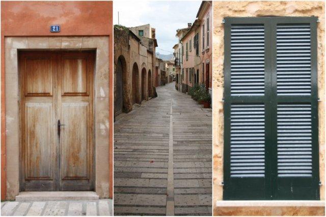 Puerta – Calle en Alcudia, Mallorca - Ventana