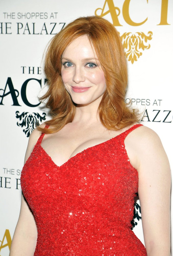 Christina Hendricks Hottest Photos in Red Dress