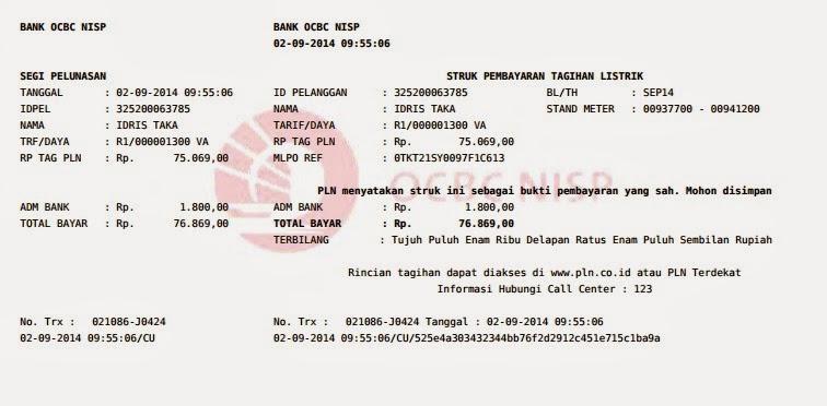 Contoh Struk PLN Pascabayar Edhyboyz Celluler