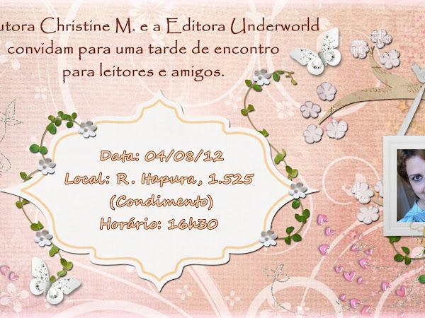 Christine M. e Editora Underworld convidam a todos de São Paulo para evento de Sob a Luz dos Seus Olhos