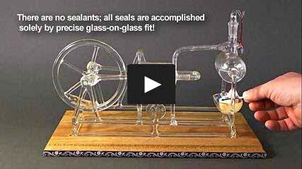 Working Model of Stephenson's steam engine made of glass