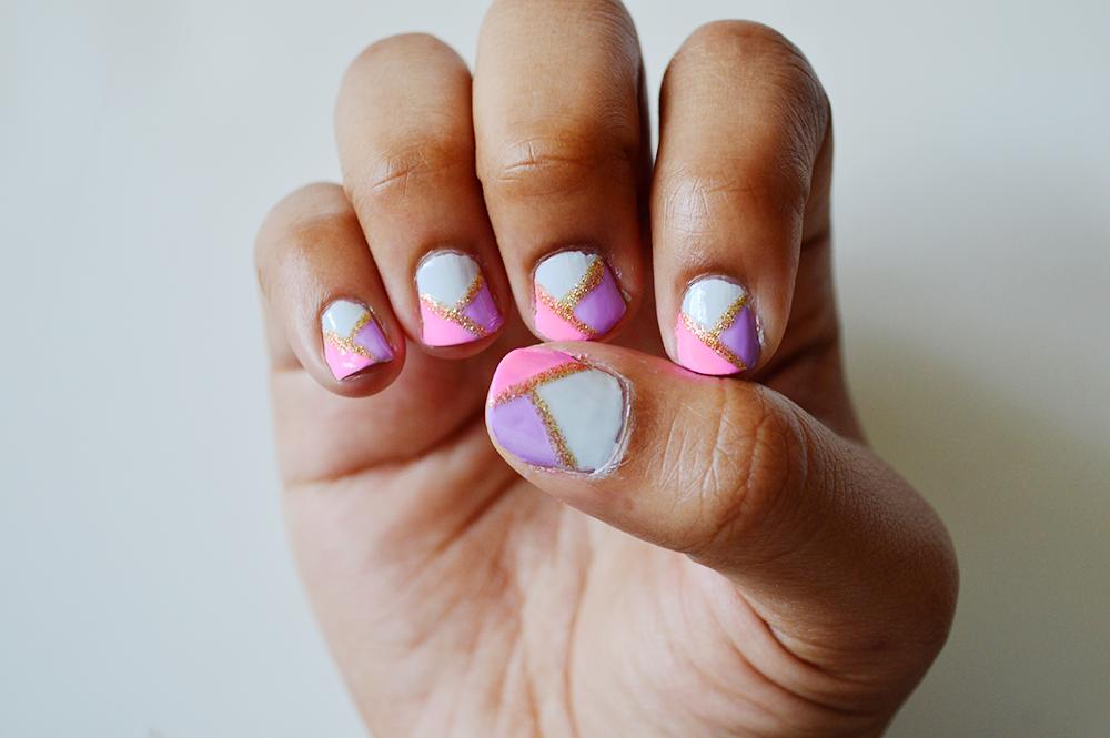 B E A U T Y: geo nail art tutorial // NEON FOX|style, beauty ...