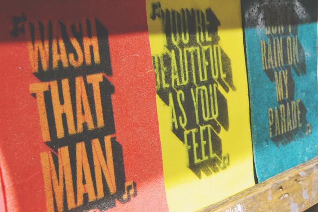 Washable postcards