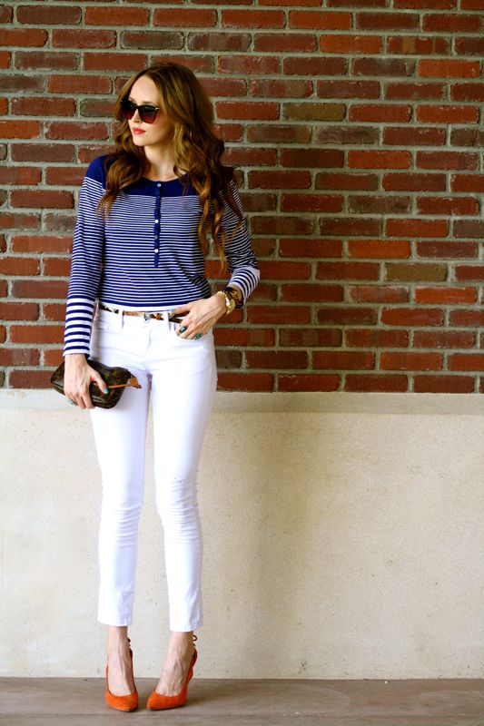 Nautical Stripes-Summer Trends-East vs. West Challenge-Golden Divine Blog-Personal Style Blogger