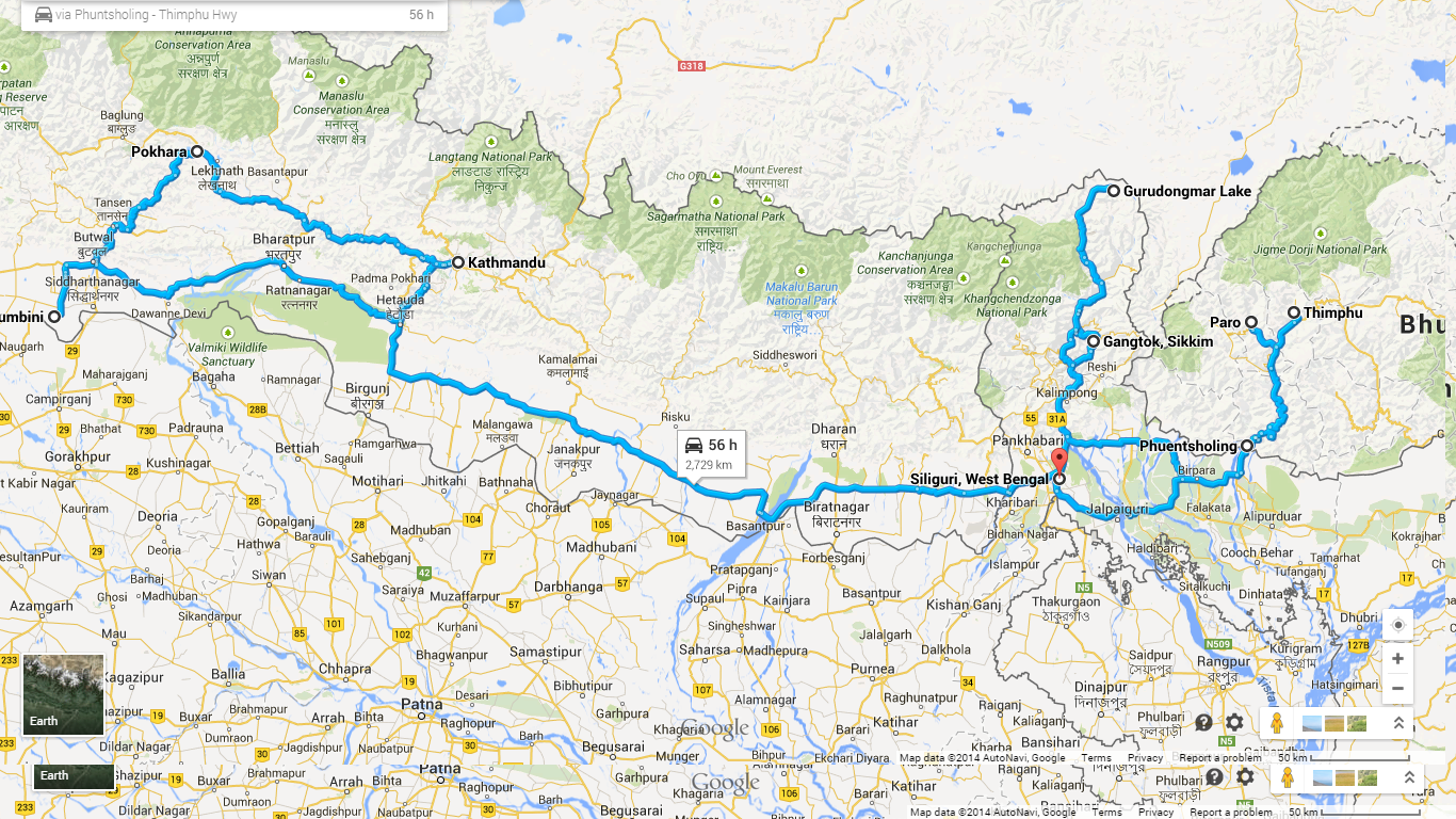 Road Less Travelled Himalayan Motorcycle Odyssey – Odyssey Travel Map