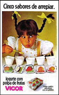 propaganda iogurte Vigor - 1979. anos 70. Oswaldo Hernandez. propaganda anos 70. Reclame anos 70
