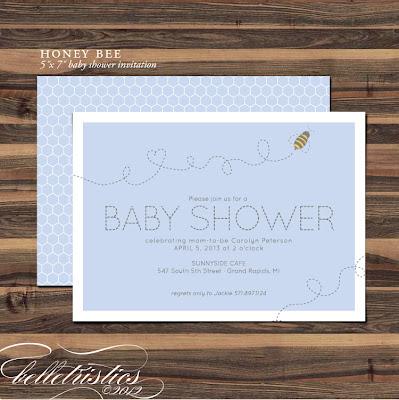 printable diy bee honeycomb boy girl baby shower invite invitation