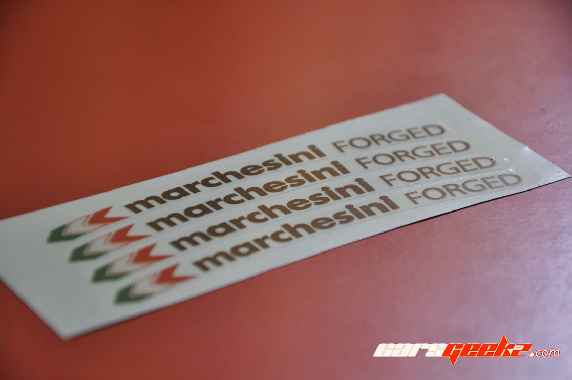 Marchesini Forged Black and Yellow sticker decal 8