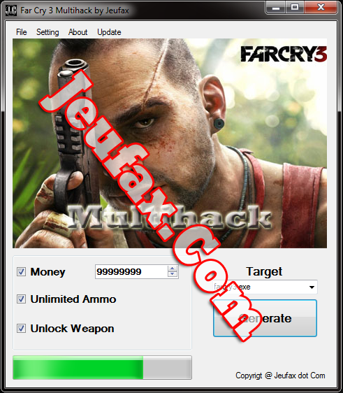 Far Cry 3 Multihack - Unlimited Money,Ammo,Weapon