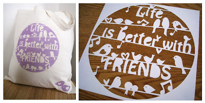 Life is better with friends bag design