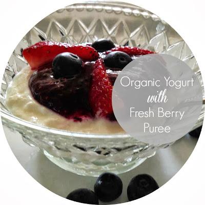 Organice Yogurt with Fresh Berries