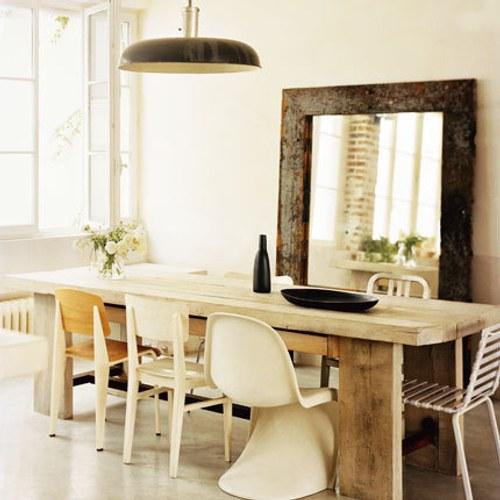Decoraxpoco: tendencia: sillas diferentes para el comedor