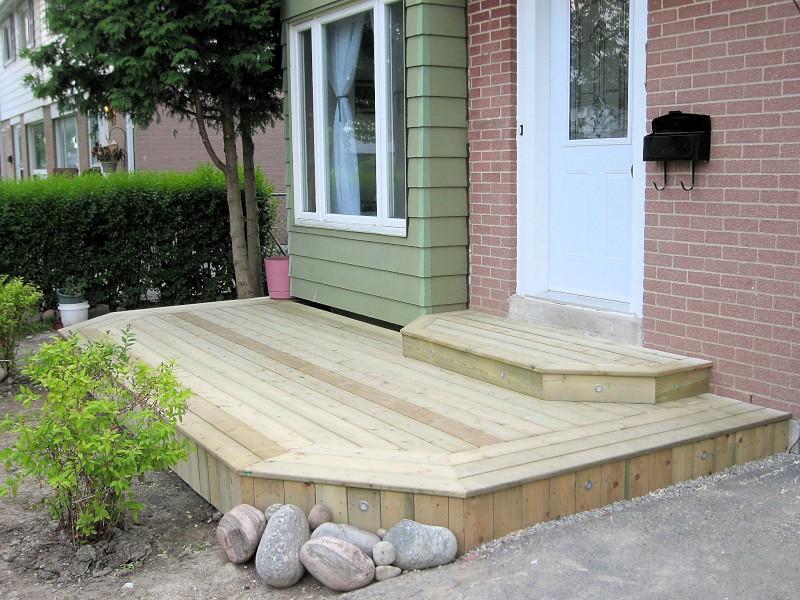 Dhiraj d 39 souza deck build front porch for Front entry decks