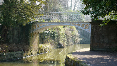 cast iron bridge, sydney gardens, bath England
