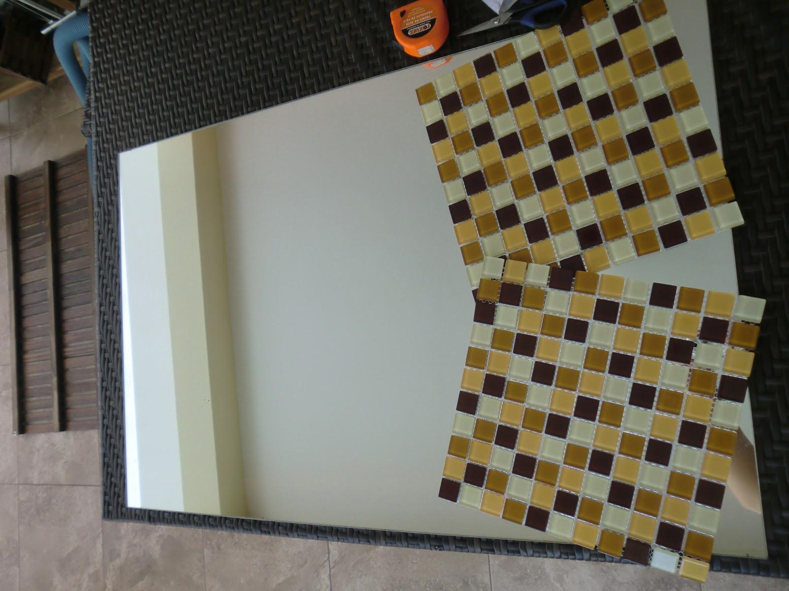 passo do Espelho Decorado com Pastilha de Vidro Casa e Reforma #66491D 1600x1200 Banheiro Com Pastilha Espelhada