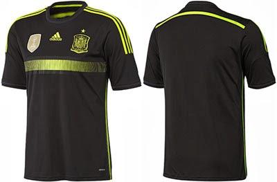 camiseta negra selección española 2014 segunda equipación comprar precio