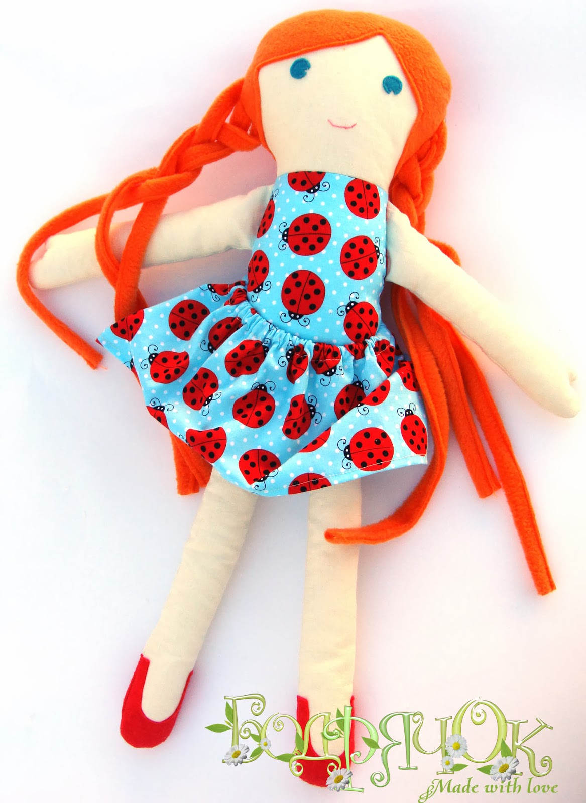 кукла Злата, игровая кукла, кукла для девочки, текстильная кукла, кукла из ткани