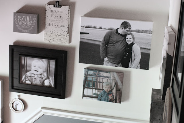 Rustic & Industrial Family Focused Gallery Wall for the Stairs // Craftivity Designs