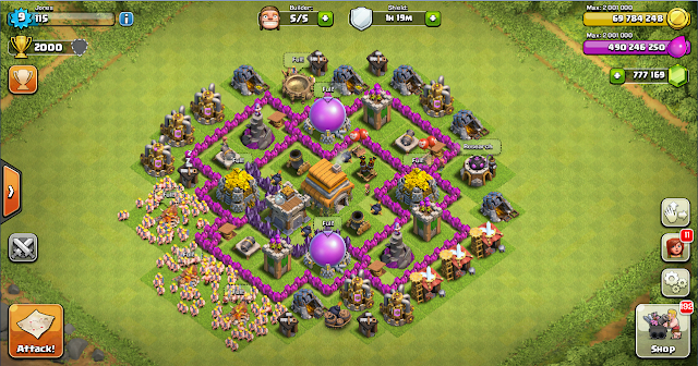 Design Thropy Base Clash Of Clans TH 6