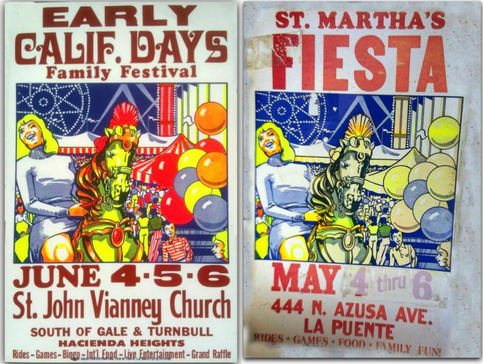 Those Vintage Carnival Posters Nailed To Telephone Poles And In Store Front Windows