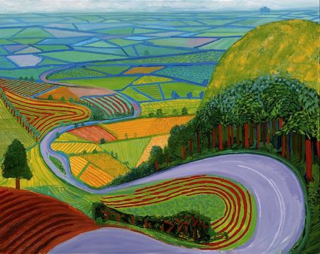 David Hockney   - Garrowby Hill, 1998