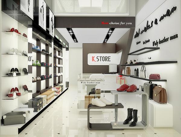 Thi công nội thất cửa hàng giày dép