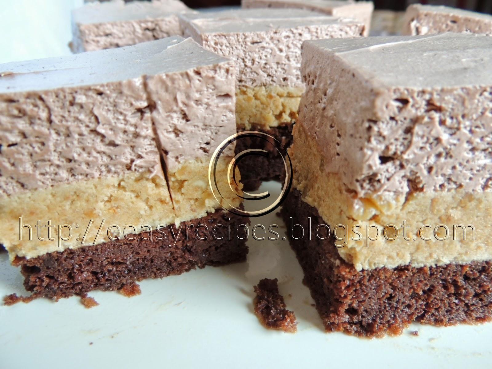 Peanut biscut cake
