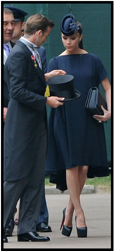 Victoria Beckham With Phillip Treacy Hat At The Royal Wedding