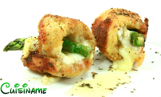 recetas originales, rollitos de pollo, pechugas de pollo, pechugas de pollo rellenas, espárragos, queso brie, recetas caseras, recetas de cocina, recetas faciles, humor