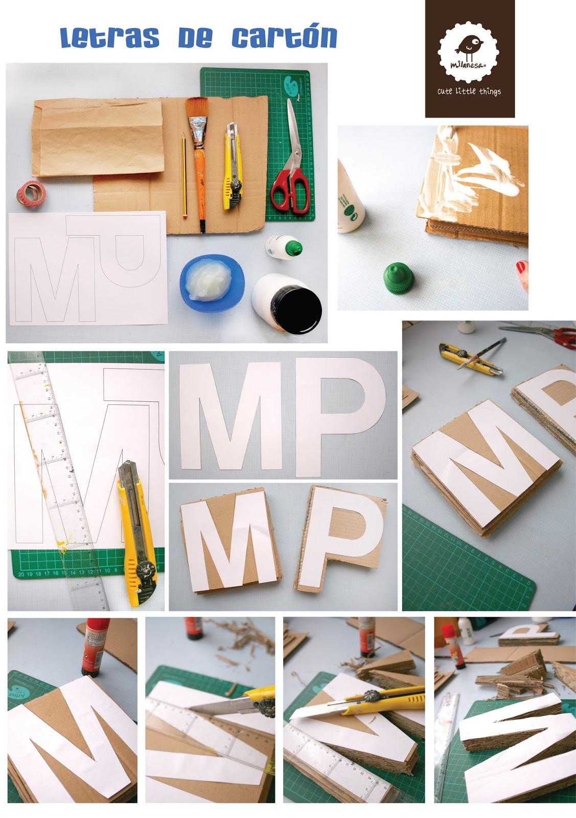 tutorial letras carton por milanesa- I parte