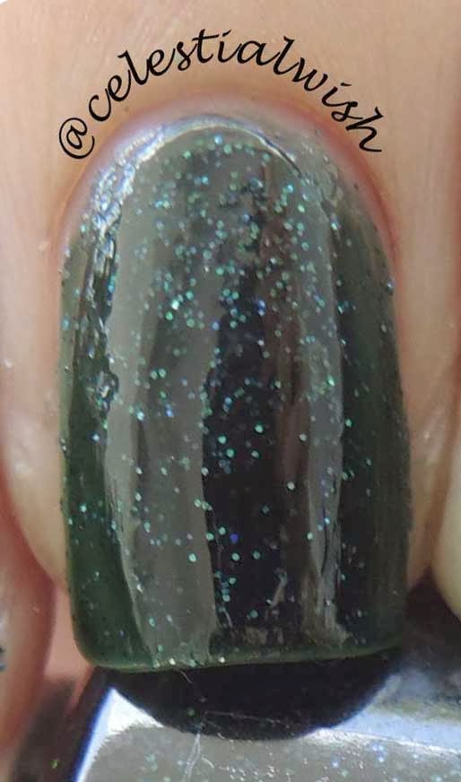 Macro shot of Love Thy's Polish Magic Forest