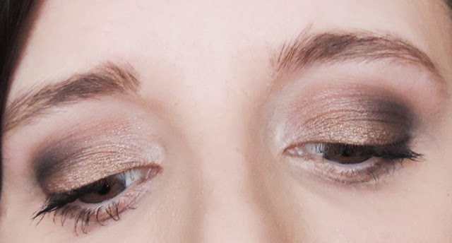 Urban Decay Naked Smoky Palette Applied