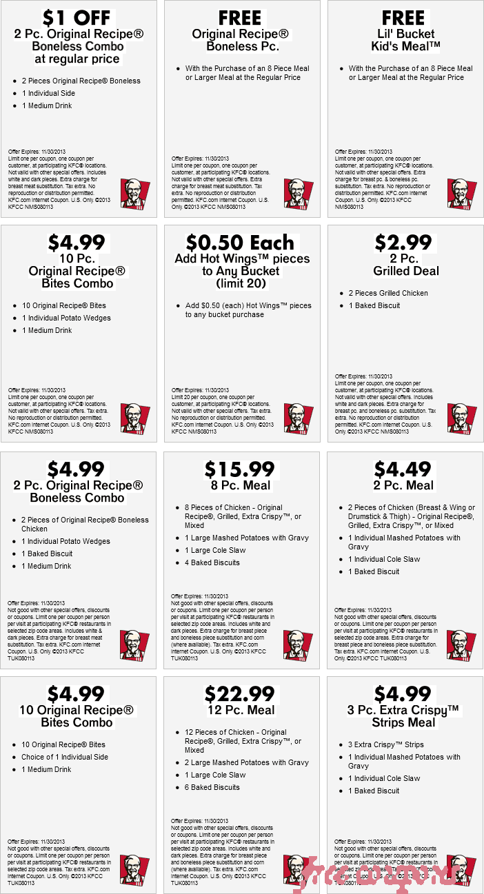 Kfc coupons 2018 august