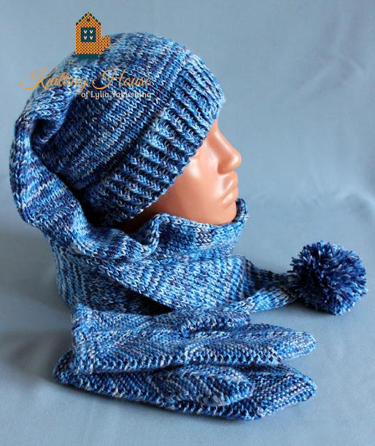 комплект, вязаный комплект, шапка колпак вязаная, шапка буратино, варежки вязаные, варежки, варежки спицами, шапка спицами