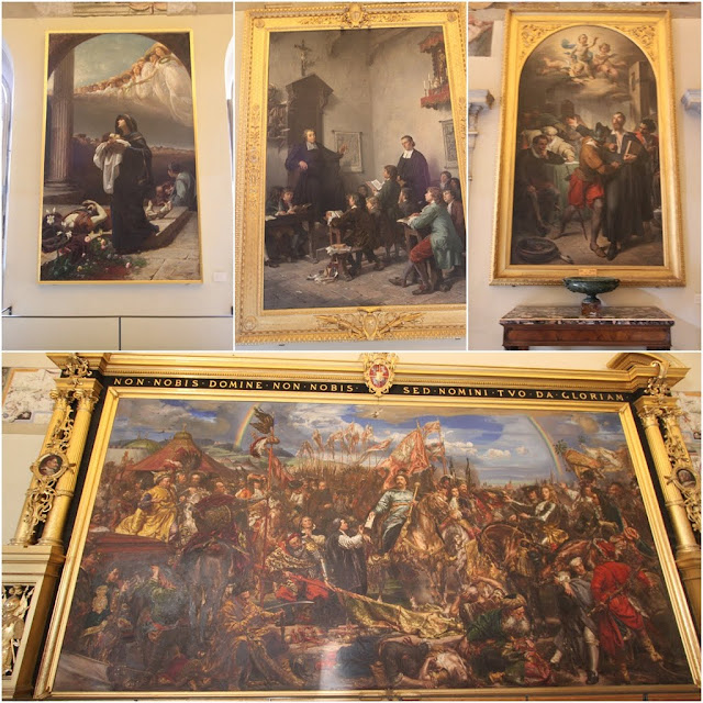 The paintings from Sala Sobieski in Musei Vaticani (Vatican Museum) in Vatican City, Rome, Italy