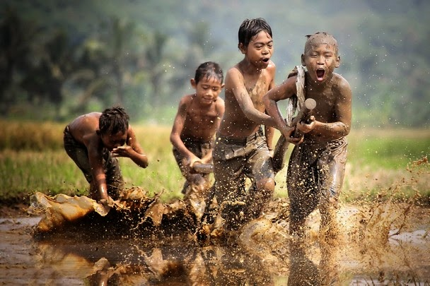The race in the mud