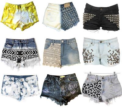 DIY inspiracje shorts