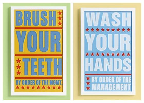 decoracao banheiro quadros:Adoro esta idéia de colocar uns quadros no banheiro lembrando para as