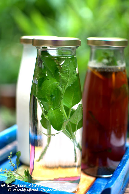 infused water and iced tea