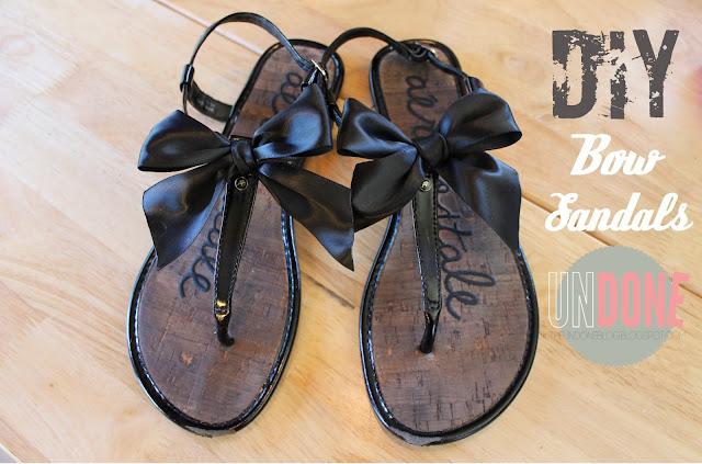 {The UNDONE Blog} DIY Bow Sandals