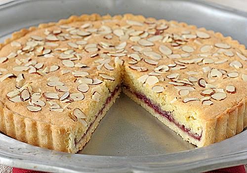 The Galley Gourmet: Italian Almond Raspberry Tart Almondy Taart Glutenvrij