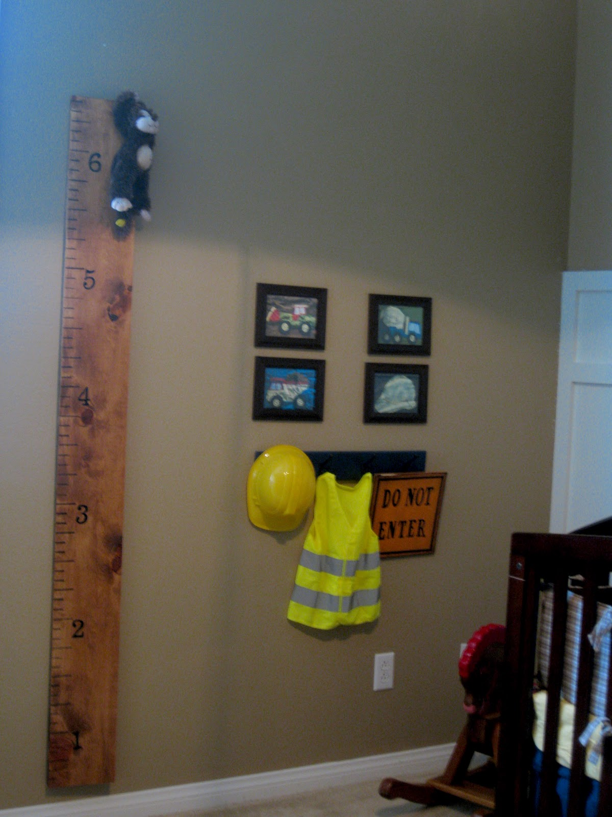 The great big mejia family the nursery reveal part 3 for Boys construction bedroom ideas
